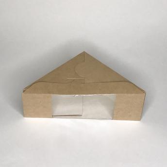 Коробка для сэндвича с  окном 130х130х50мм крафт 130*130*50 мм   № 10105015