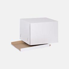 Коробка для торта 400*400*290 мм Т23В Белый № 555