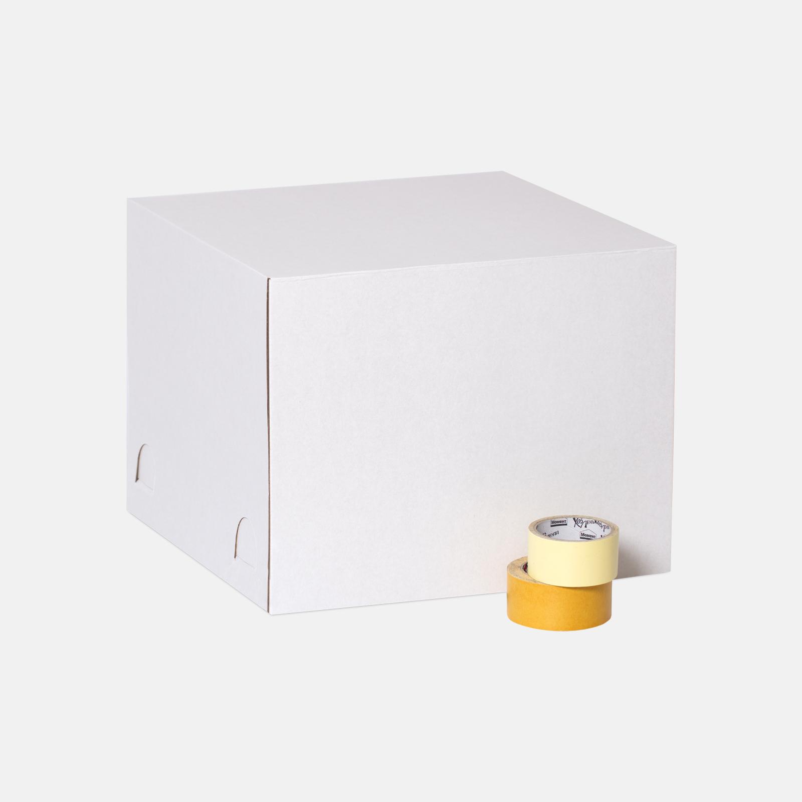 Коробка для торта 450*450*350 мм Т23В Белый №204