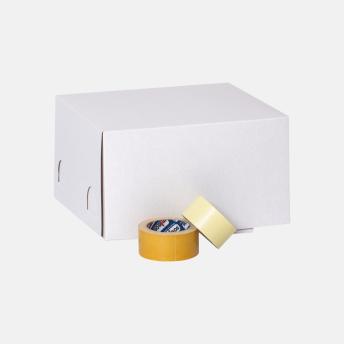 Коробка для торта 350*350*200 мм Хром-эрзац Белый № 244