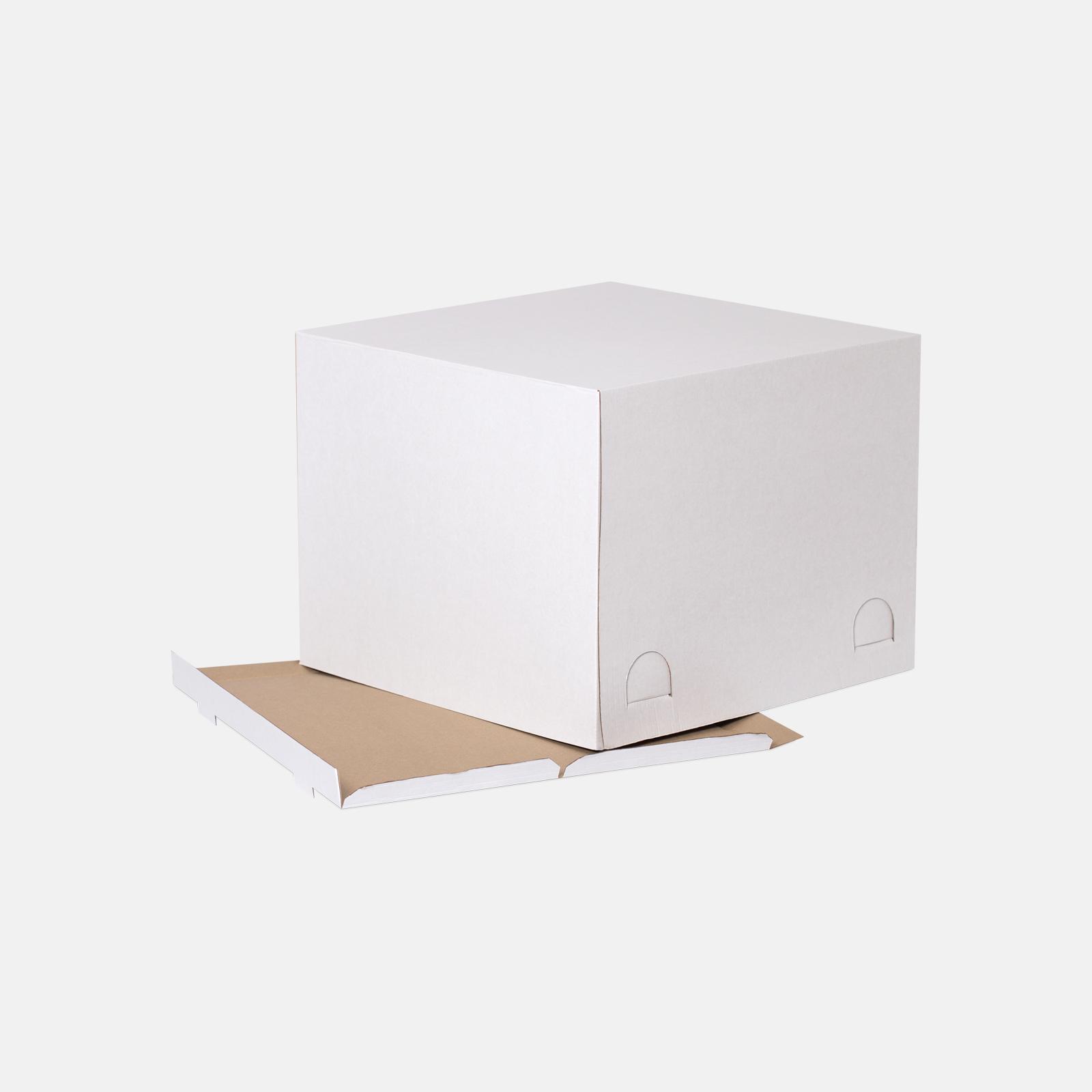 Коробка для торта 450*450*350 мм Т23В Белый № 204