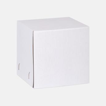 Коробка для торта 350*350*350 мм Хром-эрзац Белый № 212